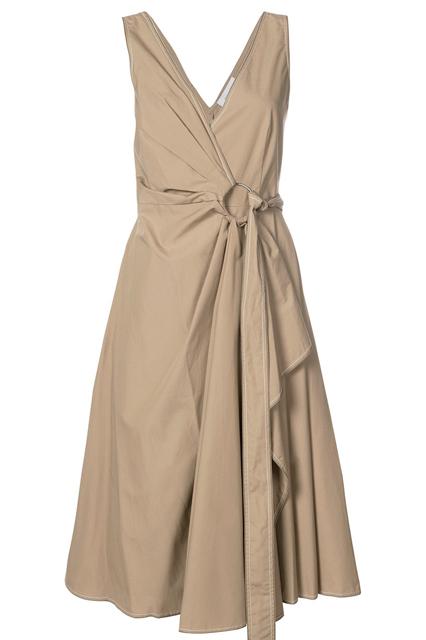 DEREK LAM 10 CROSBY платье с запахом на одну сторону