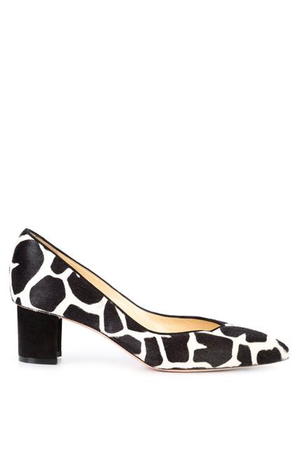 SARAH FLINT туфли-лодочки с жирафовым узором