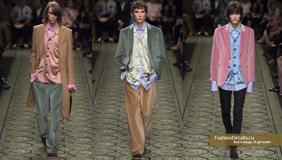 мужская коллекция BURBERRY бархатный костюм