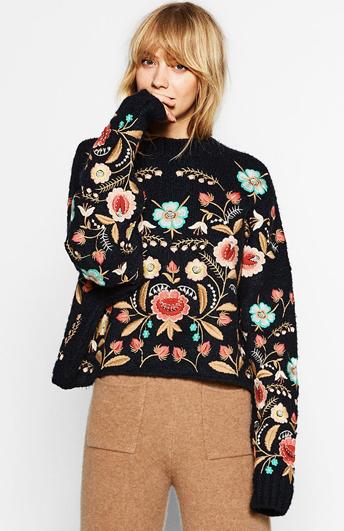 Пуловер PULL&BEAR с орнаментом