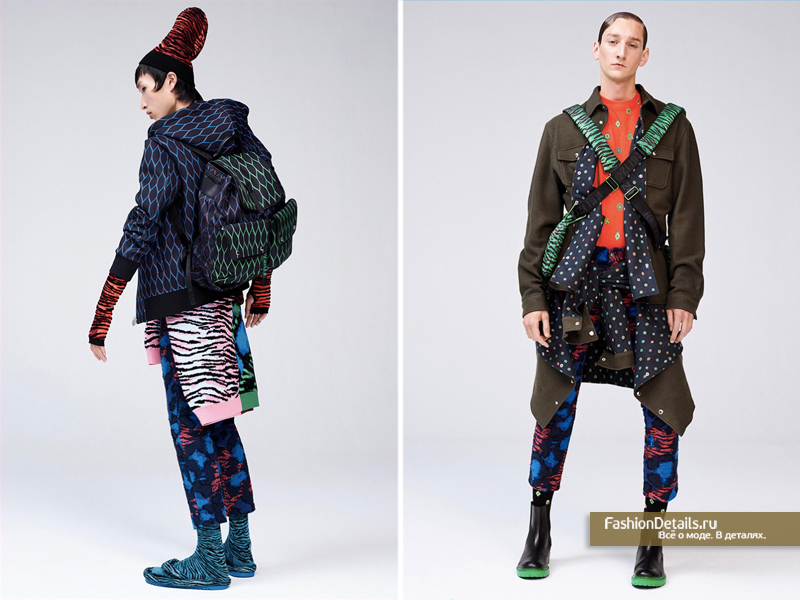 яркие принты мужской коллекции осень-зима 2016