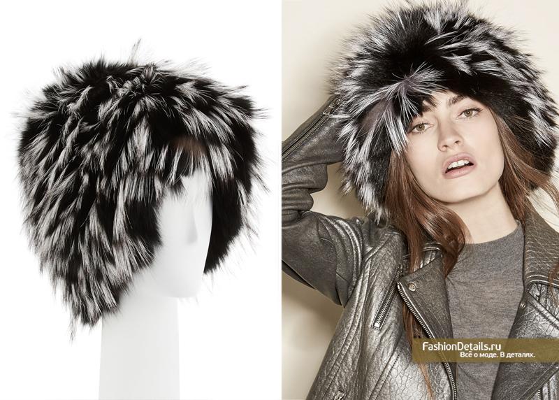 модные шапки из натурального меха, Gigi Burris