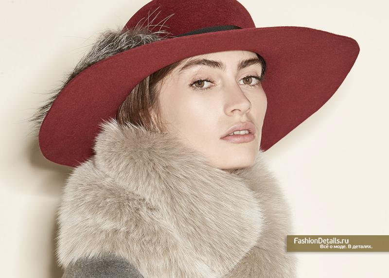 Inverni шляпа с натуральным мехом