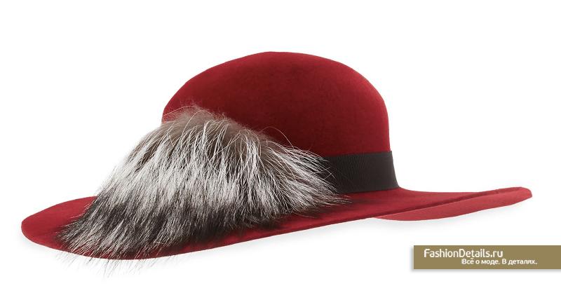 Inverni зима шляпа с мехом лисы