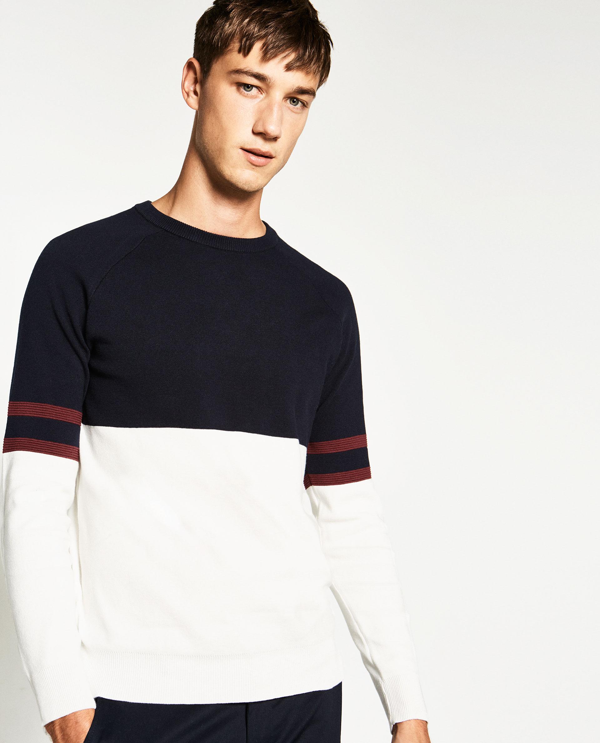 мужской пуловер зара