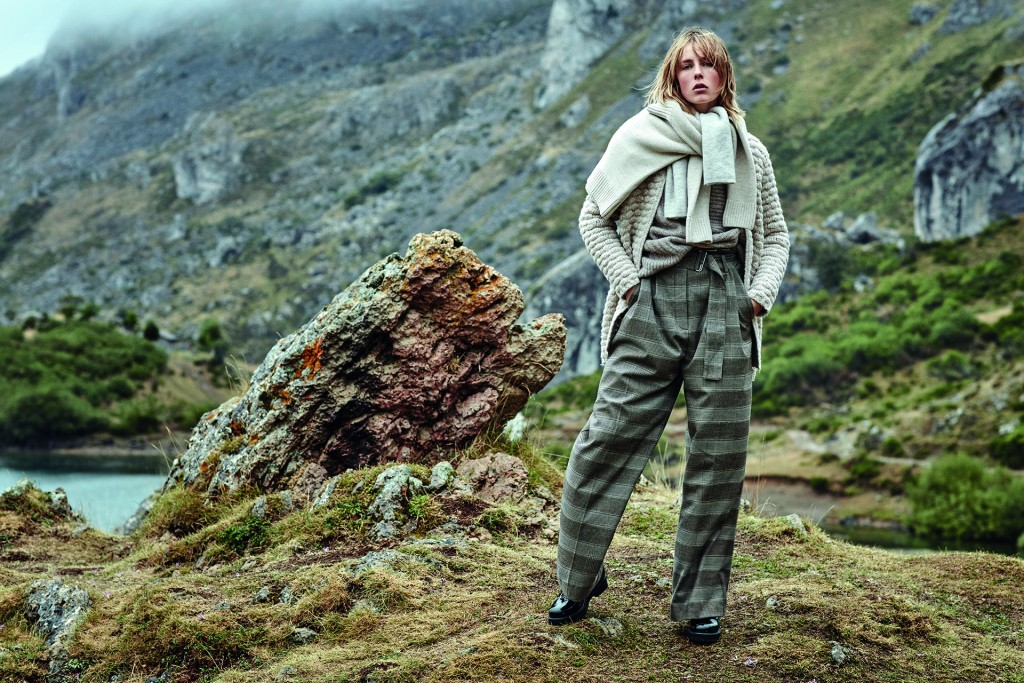где купить широкие шерстяные брюки зима 2016