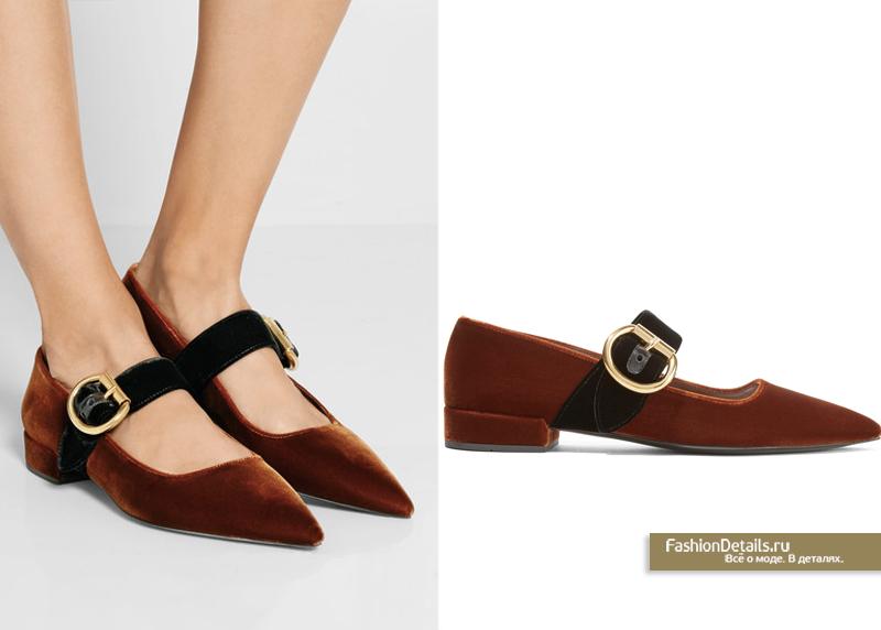бархатные туфли от PRADA