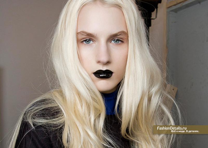 макияж с черной помадой