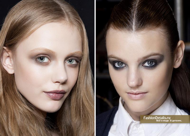 серый смоки для глаз, макияж для серых и голубых глаз