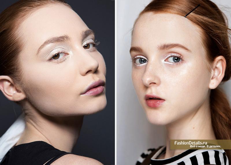 макияж с белыми тенями и белой подводкой