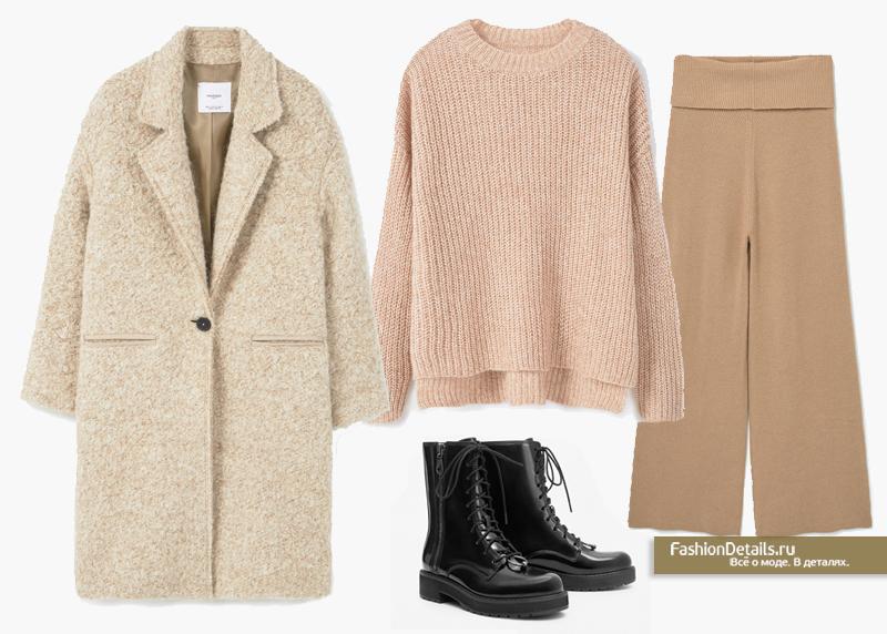 лук с пальто зима 2016