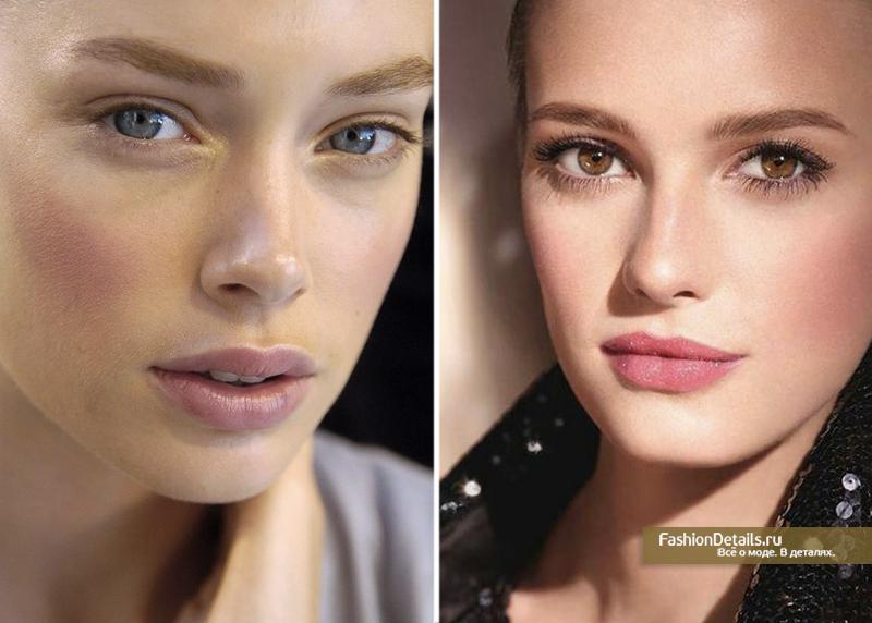 модный тренд - розовый макияж