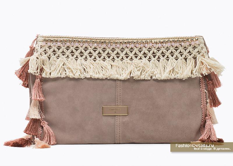 Замшевая сумка-клатч Patrizia Pepe
