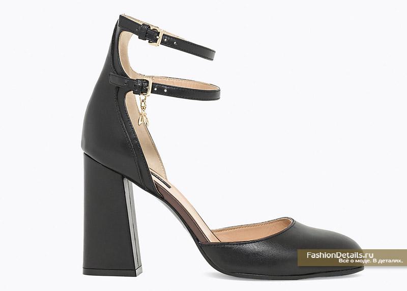 Черные туфли на каюлуках Patrizia Pepe