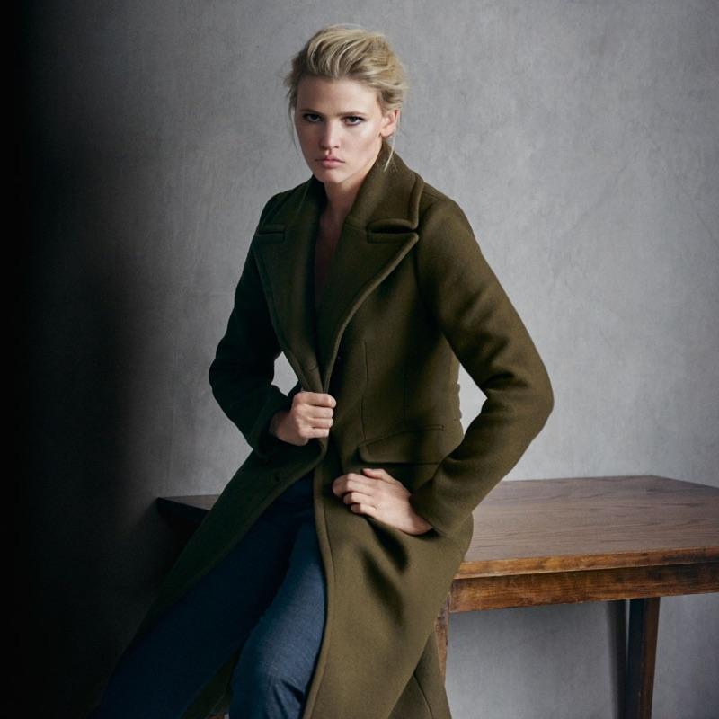 пальто в стиле милитари