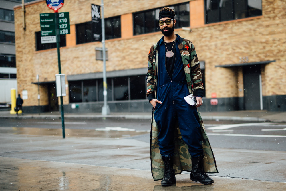 Street style at New York Men's Fashion Week Fall 2017 18