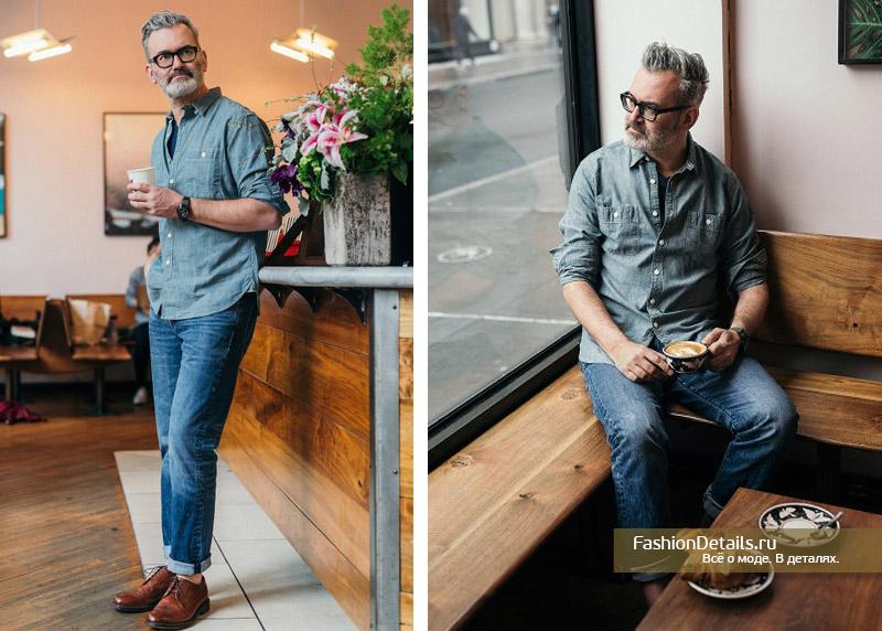 как правильно сочетать джинсовую одежду в мужском образе