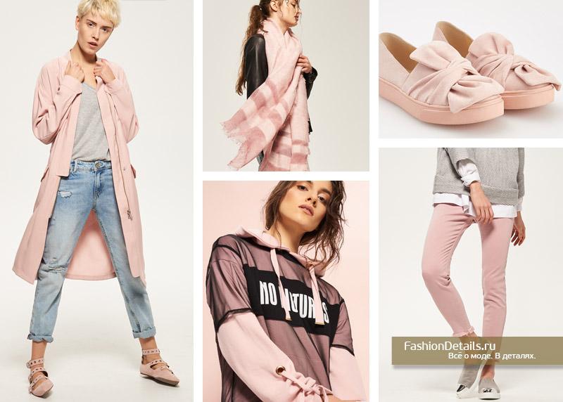 тренды сезона, модные цвета голубой и розовый