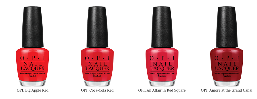 Красный лак для ногтей от OPI