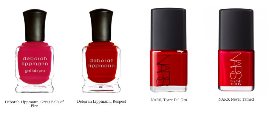 Красный лак от Derorah Lippmann и NARS
