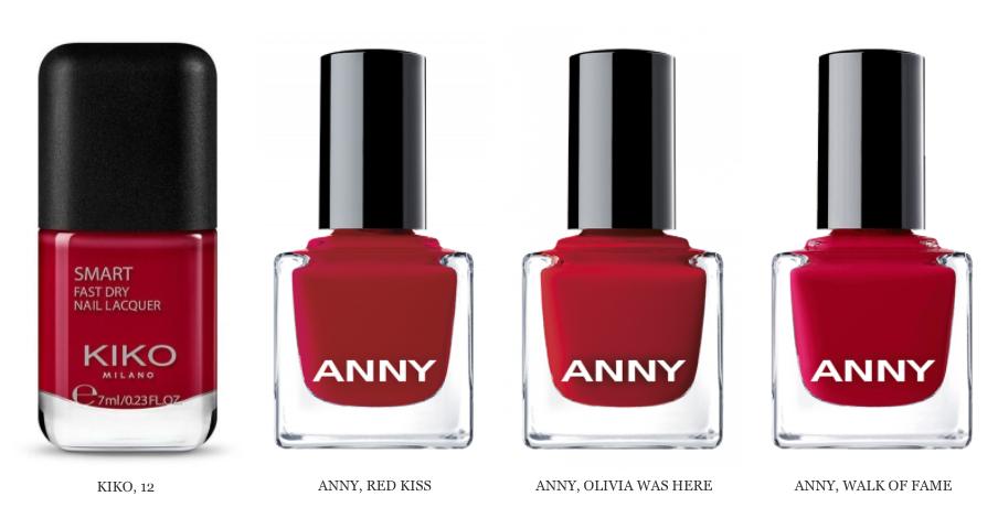 Красный лак для ногтей от KIKO, ANNY