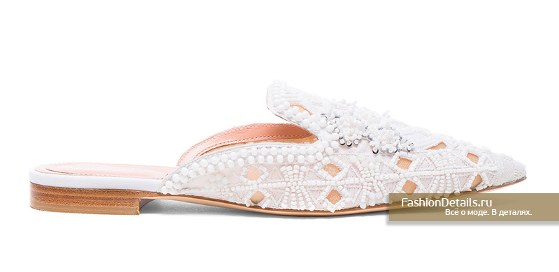 свадебная обувь, невеста 2017 Мюли от ALBERTA FERRETTI