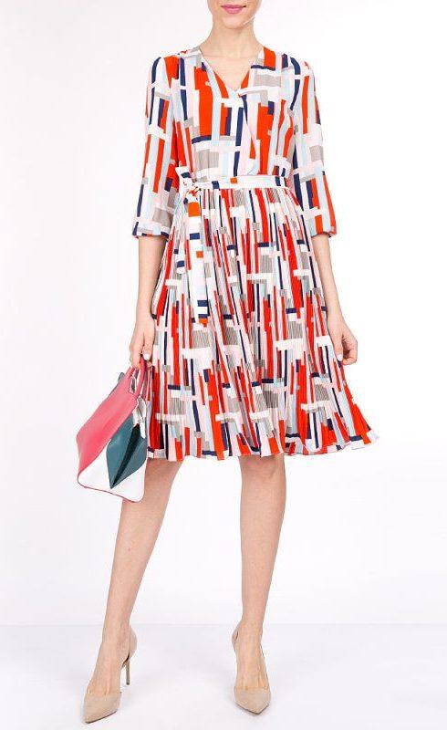 Платье с графическим принтом