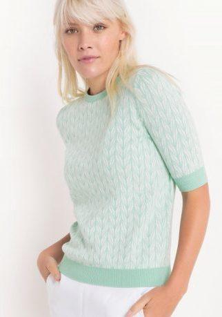 Пуловер светло-зеленый