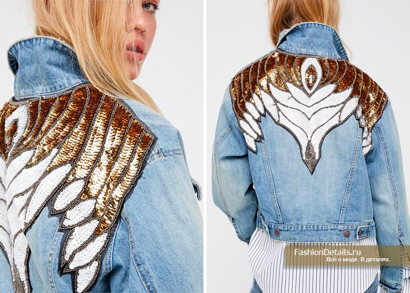 джинсовая куртка с вышивкой на спине