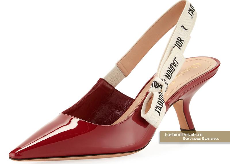 Туфли красные лаковые Dior - J'Adior