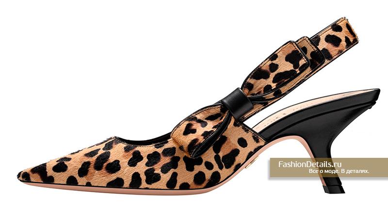 Туфли из натуральной шкурки Dior - Sweet D Leopard