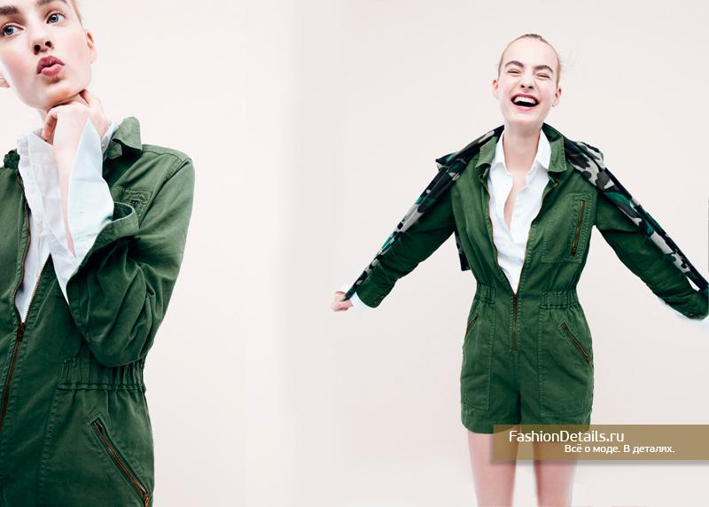 комбинезон с шортами защитного цвета с чем носить 2017