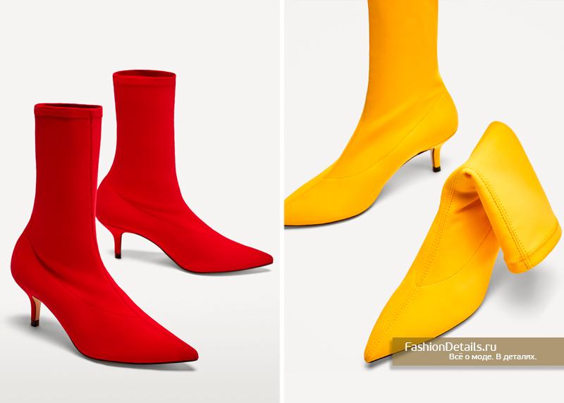 Ботинки из текстиля (2цвета) зара