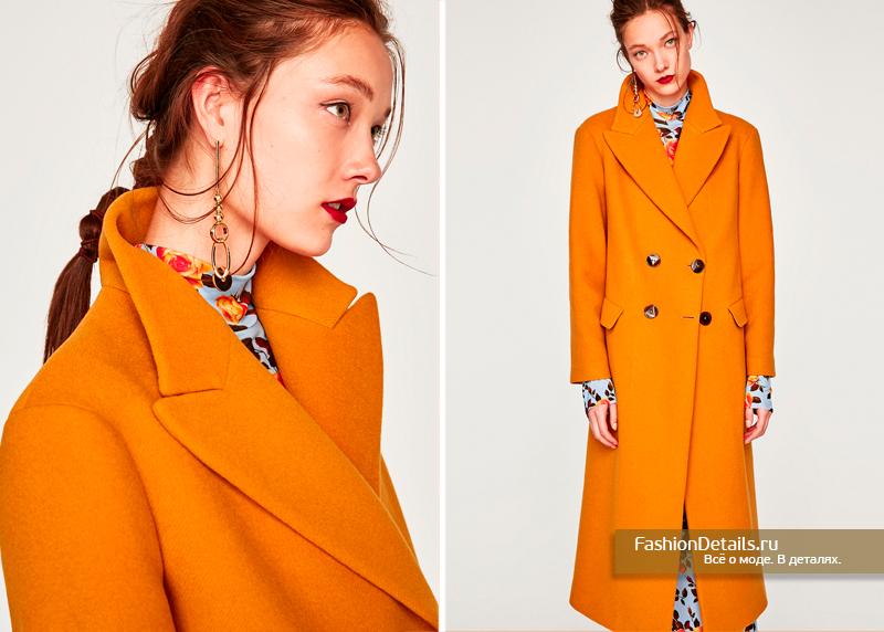 Двубортное пальто в зара осень 2017