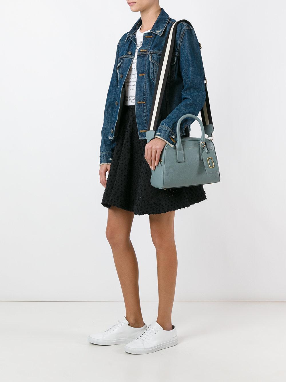 сумка с широким полосатым ремешком марк джейкобс