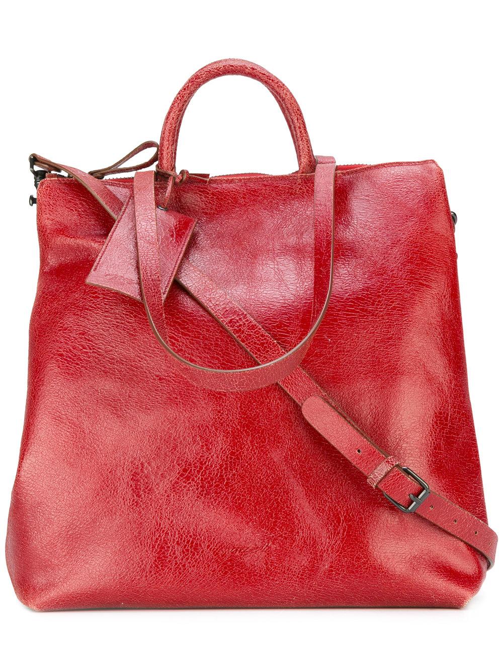 красная сумка тоут