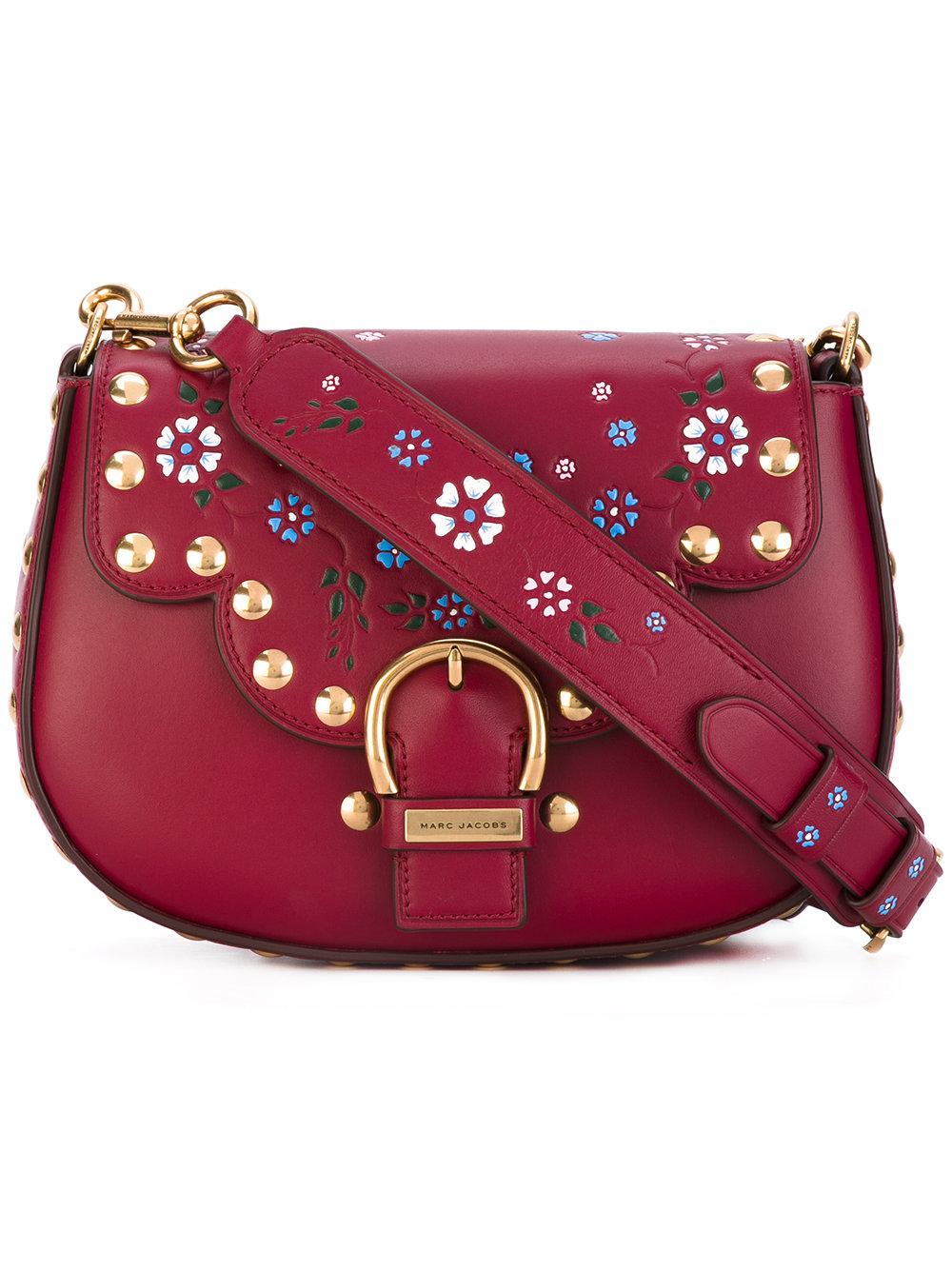 сумка красная с вишивкой марк джейкобс