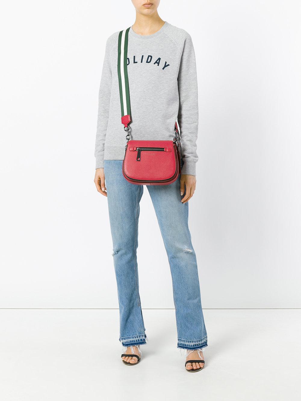 широкий полосатый ремешок для сумки марк джейкобс