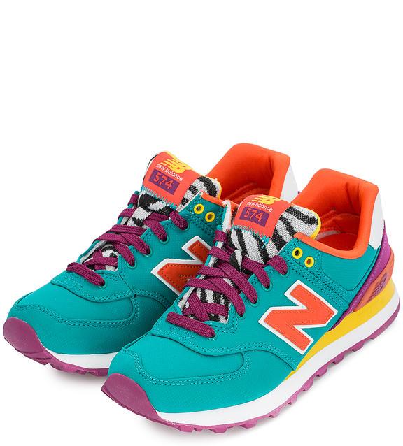 NEW BALANCE Разноцветные текстильные кроссовки