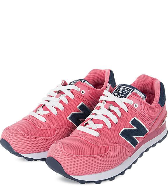 NEW BALANCE Розовые текстильные кроссовки