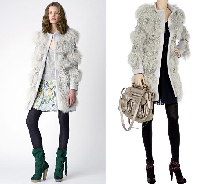 Комбинированные пальто с мехом своими руками
