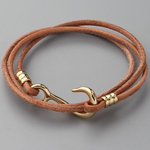 Браслет из кожаного шнурка своими руками