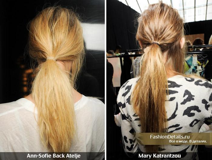 Как сделать хвост из волос с петухами