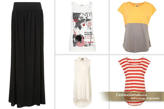 длинные прямые юбки лето 2012: